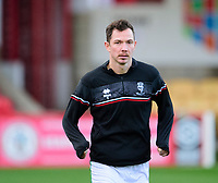 Lincoln City's Tom Hopper during the pre-match warm-up<br /> <br /> Photographer Andrew Vaughan/CameraSport<br /> <br /> The EFL Sky Bet League One - Accrington Stanley v Lincoln City - Saturday 21st November 2020 - Crown Ground - Accrington<br /> <br /> World Copyright © 2020 CameraSport. All rights reserved. 43 Linden Ave. Countesthorpe. Leicester. England. LE8 5PG - Tel: +44 (0) 116 277 4147 - admin@camerasport.com - www.camerasport.com
