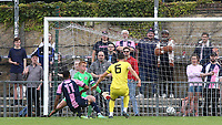 Deon Moore scores Dulwich Hamlet's fourth goal from close range during Dulwich Hamlet vs Brentford B, Friendly Match Football at Champion Hill Stadium on 31st July 2021