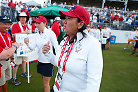 5th September 2021; Toledo, Ohio, USA;  Captain Pat Hurst of Team USA watches at the first tee during the morning Four-Ball competition during the Solheim Cup on September 5th