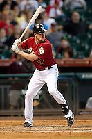 Houston Astros pinch hitter Matt Downs #16 at bat during the Major League baseball game against the Philadelphia Phillies on September 16th, 2012 at Minute Maid Park in Houston, Texas. The Astros defeated the Phillies 7-6. (Andrew Woolley/Four Seam Images).