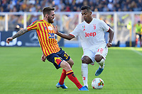 Zan Majer of US Lecce challenges for the ball with Alex Sandro of FC Juventus<br /> Lecce 26-10-2019 Stadio Via del Mare <br /> Football Serie A 2019/2020 <br /> US Lecce - FC Juventus<br /> Photo Carmelo Imbesi / Insidefoto