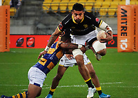 Vaea Fifita in action during the Mitre 10 Cup rugby match between Wellington Lions and  Bay Of Plenty Steamers at Sky Stadium in Wellington, New Zealand on Friday, 25 September 2020. Photo: Dave Lintott / lintottphoto.co.nz