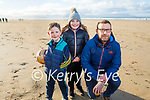 Daniel, Johnny and Elsie Dowling enjoying a stroll in Banna beach on New Years Day.