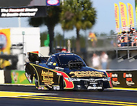 Mar 15, 2015; Gainesville, FL, USA; NHRA funny car driver Tony Pedregon during the Gatornationals at Auto Plus Raceway at Gainesville. Mandatory Credit: Mark J. Rebilas-
