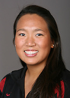 STANFORD, CA - OCTOBER 1: Debbie Chen of the Stanford Cardinal synchronized swimming team poses for a headshot on October 1, 2008 in Stanford, California.