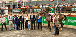 JUNE 07, 2019 : , Homerique, with Irad Ortiz Jr, wins the New York Stakes, at Belmont Park,  in Elmont, NY, June 7, 2019.  Sue Kawczynski_ESW_CSM