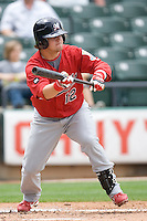 Hoffpauir, Jarrett 0042.jpg. Memphis Redbirds at Round Rock Express in Pacific Coast League Baseball. Dell Diamond on April 26th 2009 in Round Rock, Texas. Photo by Andrew Woolley.