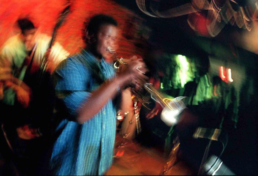 Jazz at the Velvet Lounge with the Maurice Brown Quartet:   Maurice Brown on trumpet;  Dennis Winslett, sax; Kobie Watkins, drums; Mauricio Rodriguez, guitar; Shourin Sen, bass