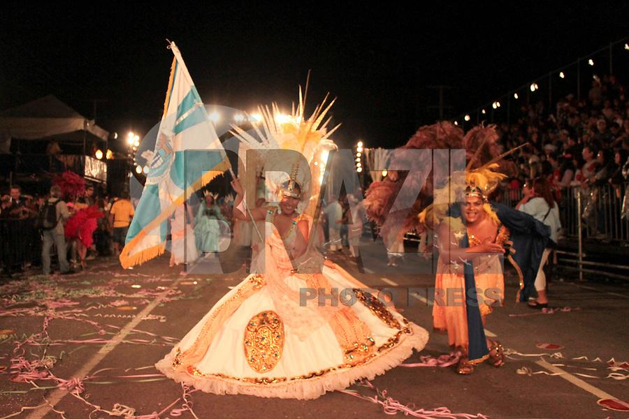 CURITIBA, PR, 05 DE MARÇO DE 2011 – LEÕES DE OURO – CURITIBA – Aconteceu na noite de sábado (5), na avenida Cândido de Abreu, desfile carnavalesco. A folia começou com a apresentação dos blocos Afoxé, Derrepent e Rancho das Flores. A escola Leões da Mocidade foi a segunda a desfilar pelo Grupo A. (FOTO: ROBERTO DZIURA JR./ NEWS FREE)