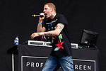 © Joel Goodman - 07973 332324 . 30/06/2012 . Manchester , UK . Professor Green ( Stephen Paul Manderson ) performs on stage ahead of the Stone Roses . Stone Roses Second Coming reunion gig at Heaton park in North Manchester . Photo credit : Joel Goodman