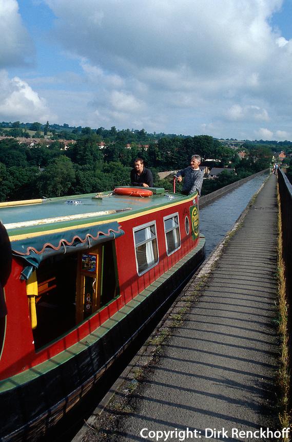 Großbritannien, Wales, Llangollen-Kanal, Aquaedukt bei Pontcysyllte, Unesco-Weltkulturerbe