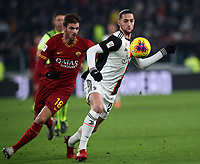 Calcio, Coppa Italia round 8 : Juventus - AS Roma, Turin, Allianz Stadium, January 22, 2020.<br /> Juventus' Adrien Rabiot (r) in action with Roma's Davide Santon (l) during the Italian Cup football match between Juventus and Roma at the Allianz stadium in Turin, January 22, 2020.<br /> UPDATE IMAGES PRESS/Isabella Bonotto
