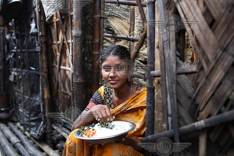 A slum dweller in Dhaka.