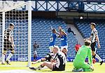 Rangers v St Mirren:  Alfredo Morelos celebrates goal no 3 with Rangers captain James Tavernier