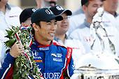 Verizon IndyCar Series<br /> Indianapolis 500 Winner Portrait<br /> Indianapolis Motor Speedway, Indianapolis, IN USA<br /> Monday 29 May 2017<br /> Winner Takuma Sato, Andretti Autosport Honda and Michael Andretti <br /> World Copyright: Michael L. Levitt<br /> LAT Images