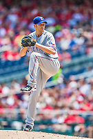 31 May 2014: Texas Rangers pitcher Scott Baker on the mound against the Washington Nationals at Nationals Park in Washington, DC. The Nationals defeated the Rangers 10-2, notching a second win of their 3-game inter-league series. Mandatory Credit: Ed Wolfstein Photo *** RAW (NEF) Image File Available ***