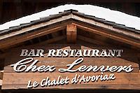 Europe/France/Rhône-Alpes/74/Haute Savoie/Avoriaz:  Restaurant: Le Chalet d'Avoriaz: Chez Lenvers