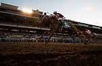 DEL MAR, CA - NOVEMBER 04: Florent Geroux, aboard Gun Runner #5, celebrates as he crosses the finish line to win the Breeders' Cup Classic \12on Day 2 of the 2017 Breeders' Cup World Championships at Del Mar Thoroughbred Club on November 4, 2017 in Del Mar, California. (Photo by Alex Evers/Eclipse Sportswire/Breeders Cup)