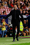 Diego Pablo Simeone coach of Atletico de Madrid in action during La Liga match between Atletico de Madrid and SD Eibar at Wanda Metropolitano Stadium in Madrid, Spain.September 01, 2019. (ALTERPHOTOS/A. Perez Meca)