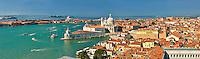 Panorama of The punta della doganaand  Santa Maria della Salute on the Giudecca Canal, Venice Italy