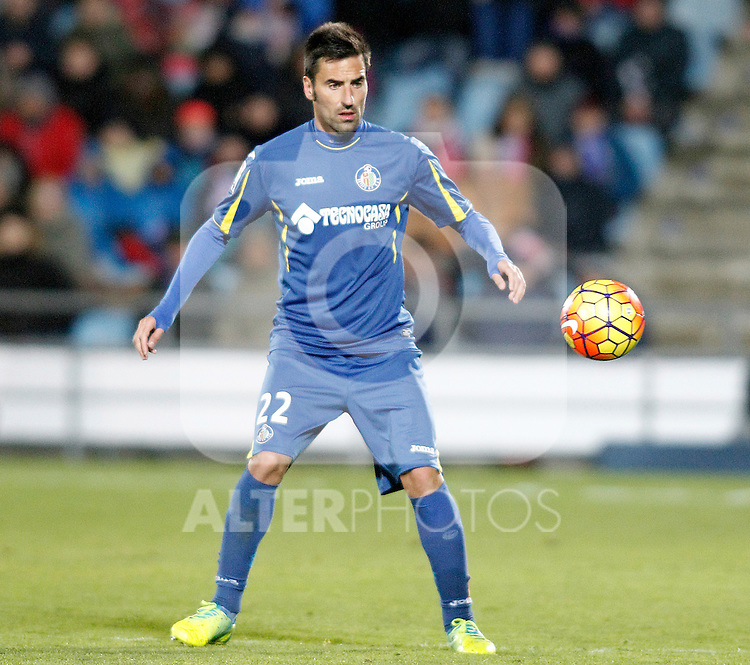 Getafe's Juan Rodriguez during La Liga match. February 14,2016. (ALTERPHOTOS/Acero)