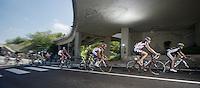 Giro d'Italia stage 13.Savano-Cervere: 121km..peloton under the bridge