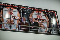 Ausstellung Luther und die Avantgarde mit grossformatigen Bildern der britischen Kuenstler Gilbert & George in der St. Matthaeuskirche in Berlin.<br /> Im Bild vlnr.: George & Gilbert.<br /> 19.5.2017, Berlin<br /> Copyright: Christian-Ditsch.de<br /> [Inhaltsveraendernde Manipulation des Fotos nur nach ausdruecklicher Genehmigung des Fotografen. Vereinbarungen ueber Abtretung von Persoenlichkeitsrechten/Model Release der abgebildeten Person/Personen liegen nicht vor. NO MODEL RELEASE! Nur fuer Redaktionelle Zwecke. Don't publish without copyright Christian-Ditsch.de, Veroeffentlichung nur mit Fotografennennung, sowie gegen Honorar, MwSt. und Beleg. Konto: I N G - D i B a, IBAN DE58500105175400192269, BIC INGDDEFFXXX, Kontakt: post@christian-ditsch.de<br /> Bei der Bearbeitung der Dateiinformationen darf die Urheberkennzeichnung in den EXIF- und  IPTC-Daten nicht entfernt werden, diese sind in digitalen Medien nach §95c UrhG rechtlich geschuetzt. Der Urhebervermerk wird gemaess §13 UrhG verlangt.]