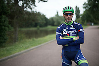 Michael Albasini (SUI/Orica-BikeExchange)<br /> <br /> New kits/colors for a new name sponsor as Team Orica-GreenEDGE changes into Team Orica-BikeExchange ahead of the 2016 Tour de France