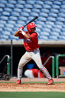 Philadelphia Phillies Freddy Francisco (6) at bat during a Florida Instructional League game against the New York Yankees on October 12, 2018 at Spectrum Field in Clearwater, Florida.  (Mike Janes/Four Seam Images)