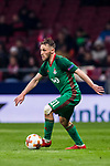 Maciej Rybus of FC Lokomotiv Moscow in action during the UEFA Europa League 2017-18 Round of 16 (1st leg) match between Atletico de Madrid and FC Lokomotiv Moscow at Wanda Metropolitano  on March 08 2018 in Madrid, Spain. Photo by Diego Souto / Power Sport Images
