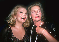 Gena Rowlands Lauren Bacall 1984<br /> Photo by Adam Scull/PHOTOlink