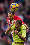 Diego Roberto Godin Leal of Atletico de Madrid in action during the La Liga 2017-18 match between Atletico de Madrid and Getafe CF at Wanda Metropolitano on January 06 2018 in Madrid, Spain. Photo by Diego Gonzalez / Power Sport Images