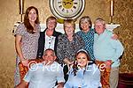 The Kissane/Moynihan family Killarney celebrating a family occasion in the International Hotel Killarney on Saturday night front row l-r: Martin Kissane, Saoirse McGinn. Back row: Marie Johnson, Norma Moynihan, Noreen Moynihan, Betty Kissane and Sean Moynihan