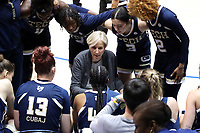 DURHAM, NC - JANUARY 26: Head coach Nell Fortner of Georgia Tech coaches her team during a timeout during a game between Georgia Tech and Duke at Cameron Indoor Stadium on January 26, 2020 in Durham, North Carolina.