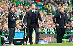 Celtic v St Johnstone....01.04.12   SPL.An angry Steve Lomas reacts as as a foul on Liam Craig goes unpunished.Picture by Graeme Hart..Copyright Perthshire Picture Agency.Tel: 01738 623350  Mobile: 07990 594431
