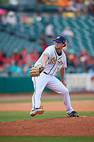 Montgomery Biscuits relief pitcher Matt Krook (31) during a Southern League game against the Mobile BayBears on May 2, 2019 at Riverwalk Stadium in Montgomery, Alabama.  Mobile defeated Montgomery 3-1.  (Mike Janes/Four Seam Images)