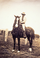 Archival photograph of Yutaka Kimura, the ìWaimea Cowboy,î on horseback