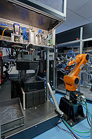 Pictured: The unmanned version of the machines tested by Spectrum Technologies in Bridgend, Wales, UK. Wednesday 19 February 2020<br /> Re: The effect of the Ford factory closure will have to Bridgend in south Wales, UK.