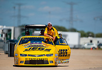 Jun 3, 2018; Joliet, IL, USA; NHRA pro stock driver Jeg Coughlin Jr during the Route 66 Nationals at Route 66 Raceway. Mandatory Credit: Mark J. Rebilas-USA TODAY Sports