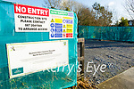 The site where the construction of the Listowel Greenway is stopped due to Covid 19.