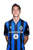 20th August 2020, Brugge, Belgium;  Lennert Hallaert pictured during the team photo shoot of Club Brugge NXT prior the Proximus league football season 2020 - 2021 at the Belfius Base camp