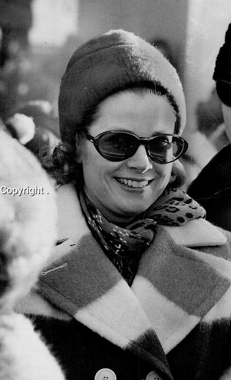 1969 FILE PHOTO - ARCHIVES -<br /> <br /> Grace Kelly, princesse Grace de Monaco<br /> en février 1969, a Quebec, durant le Carnaval<br /> <br /> Princess Grace was the star of Quebec carnival<br /> <br /> PHOTO :  Jeff Goode - Toronto Star Archives - AQP