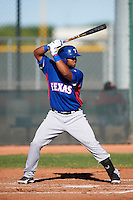 Texas Rangers minor league catcher / first baseman Fernando Vivili #22 during an instructional league game against a Korean All-Star team at the Surprise Stadium Complex on October 13, 2012 in Surprise, Arizona.  (Mike Janes/Four Seam Images)
