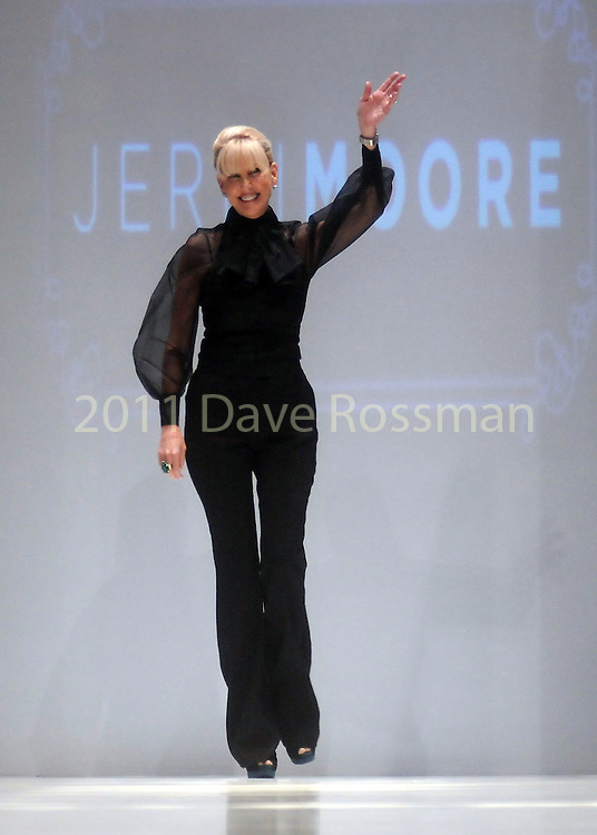 Designer Jerri Moore thanks the crowd after her show at the first night of Fashion Houston at the Wortham Theater Monday Oct. 10,2011.(Dave Rossman/For the Chronicle)