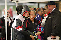 23 February 2008: Debbie Chen before Stanford's 101-62.5 victory over Arizona at the Avery Aquatic Center in Stanford, CA.