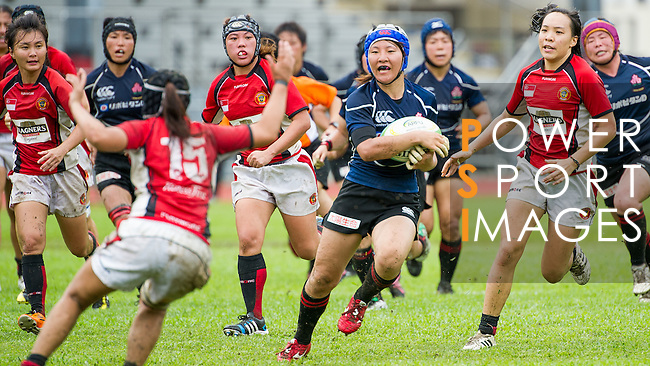 Hong Kong plays Japan during the HKRFU A4N 2014 on May 18, 2014 at the Aberdeen Sport Ground in Hong Kong, China. Photo by Chung Yan / Power Sport Images