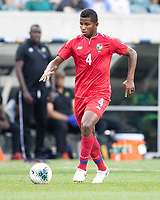 PHILADELPHIA, PA - JUNE 30: Fidel Escobar #4 during a game between Panama and Jamaica at Lincoln Financial Field on June 30, 2019 in Philadelphia, Pennsylvania.