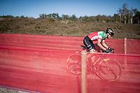 Italian Champion Gioele Bertolini (ITA/Selle Italia - Guerciotti - Elite)<br /> <br /> Elite Men's Race<br /> 2021 UCI cyclo-cross World Cup - Zonhoven (BEL)<br /> <br /> ©kramon