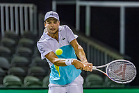Rotterdam, The Netherlands, 11 Februari 2020, ABNAMRO World Tennis Tournament, Ahoy, <br /> Gregoire Barrere (FRA).<br /> Photo: www.tennisimages.com