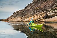 Ulrika Larsson kayaking, West Sweden
